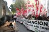 Manifestación de los sindicatos frente a la Consejería de Economía y Empleo