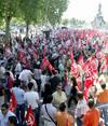 Manifestación de CC.OO y UGT