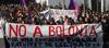Manifestación de estudiantes por el convenio de Bolonia que estructura la enseñanza universitaria