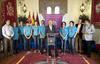 La Diputación de Valladolid recibe al equipo de esgrima Dismeva Valladolid