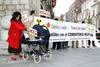 Manifestación en la Diputación de Valladolid contra el ATC