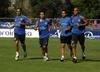 Capdevila, Alexis y Cifuentes se entrenan con el preparador físico