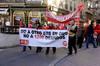 Manifestación de los trabajadores de ONO