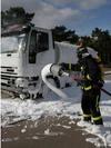 Simulacro de accidente en el Parque Tecnológico de Boecillo (Valladolid)