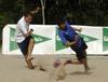 Fútbol playa en la playa de las Moreras en Valladolid